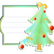 Green frame with xmas-tree — Stock Vector