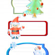 Three frames for christmas — Vector de stock