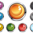 Glossy color buttons — Stock Vector #11696362