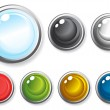 Colorful glossy buttons — Stock Vector #11696364