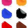 Stock Vector: Glossy color stickers