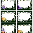 Six halloween frames — Stock Vector
