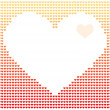 Digital image of heart — Stock Vector