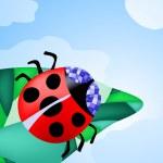 Ladybug creeping on the leaf — Stock Vector #11696547