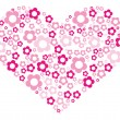 Pink heart — Stockvectorbeeld