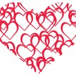 Royalty-Free Stock  : Vector illustration of red heart