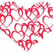 Royalty-Free Stock Vectorielle: Vector illustration of red heart
