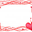Red valentine frame with heart — Stockvectorbeeld