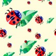Ladybirds  — Stock Vector