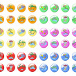 Sixty colored icons travel — Image vectorielle