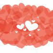 Stock Vector: Red abstract hearts