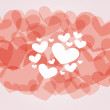 Red abstract hearts — Stock Vector