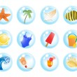 Vacation symbols — Stock Vector