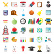 Set of education icons — Stockvektor