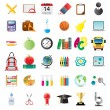 Set of education icons — ストックベクタ