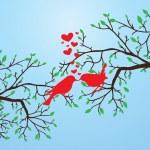 πουλιά φιλιά — Διανυσματικό Αρχείο