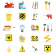 Construction and building warning signs - 