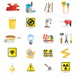 Construction and building warning signs — Stock Vector