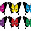 Butterfly collection - Stock Vector
