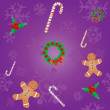 Royalty-Free Stock Imagen vectorial: Christmas seamless background
