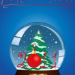 Snow globe with a Christmas tree — Stock Vector #11697530
