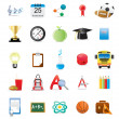 Educational icons — Stock Vector