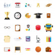 Education icons — Vettoriali Stock