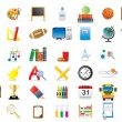Royalty-Free Stock Vector Image: Set of education icons