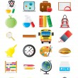 Stock Vector: Set of education icons