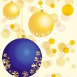 Royalty-Free Stock Obraz wektorowy: Golden and blue balls