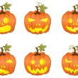 iconos de calabaza de Halloween — Vector de stock  #11697720