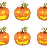 Halloween pompoen pictogrammen — Stockvector  #11697720