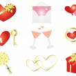 Love symbols — Stock Vector