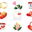 Valentine's Day symbols  — Stockvectorbeeld