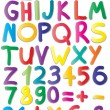 Colour alphabet - Stock Vector
