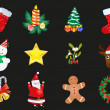 Christmas stickers — Stock Vector #11697876
