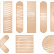 Set of beige plasters - Stockvektor