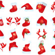 Royalty-Free Stock Vector Image: Collection of santa claus hats