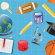 Seamless school background - Imagens vectoriais em stock