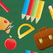 Education objects — Vector de stock