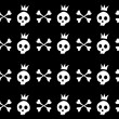 Skull and crossbones - Stok Vektr