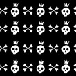 Skull and crossbones — Vetorial Stock