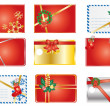 Stock Vector: Christmas gift labels