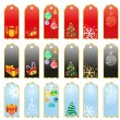 Christmas stickers — Stock Vector #11698200