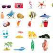 Vector de stock : Summer icons