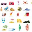 Sommer-Symbole — Stockvektor