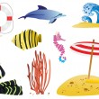 Royalty-Free Stock Vector Image: Sea wildlife