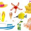Sommer-Objekte — Stockvektor