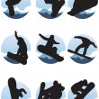 Royalty-Free Stock Vector Image: Snowboarders