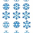 Blue snowflakes — Stock Vector #11698257